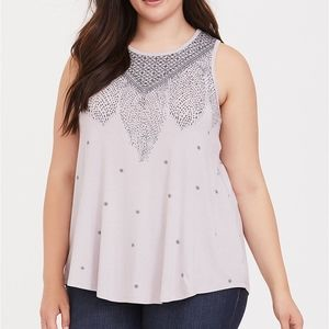 Torrid Feather High Neck Tank Top